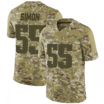 Youth Nike New England Patriots John Simon Camo 2018 Salute to Service Jersey - Limited