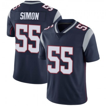 Youth Nike New England Patriots John Simon Navy 100th Vapor Jersey - Limited