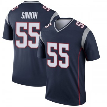 Youth Nike New England Patriots John Simon Navy Jersey - Legend