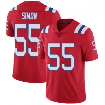 Youth Nike New England Patriots John Simon Red Vapor Untouchable Alternate Jersey - Limited
