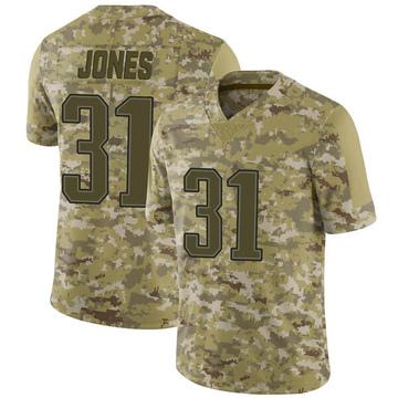 Youth Nike New England Patriots Jonathan Jones Camo 2018 Salute to Service Jersey - Limited