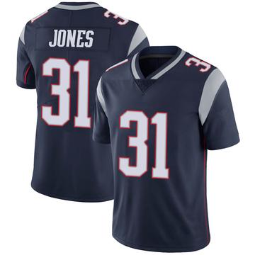 Youth Nike New England Patriots Jonathan Jones Navy 100th Vapor Jersey - Limited