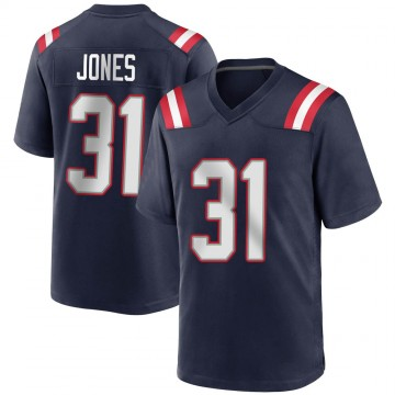 Youth Nike New England Patriots Jonathan Jones Navy Blue Team Color Jersey - Game