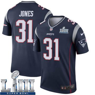 Youth Nike New England Patriots Jonathan Jones Navy Super Bowl LIII Jersey - Legend