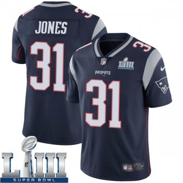 Youth Nike New England Patriots Jonathan Jones Navy Team Color Super Bowl LIII Vapor Untouchable Jersey - Limited