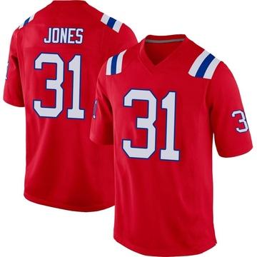 Youth Nike New England Patriots Jonathan Jones Red Alternate Jersey - Game