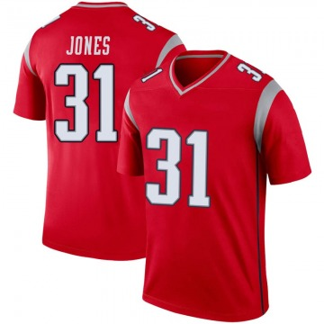 Youth Nike New England Patriots Jonathan Jones Red Inverted Jersey - Legend