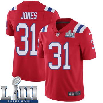 Youth Nike New England Patriots Jonathan Jones Red Super Bowl LIII Vapor Untouchable Alternate Jersey - Limited