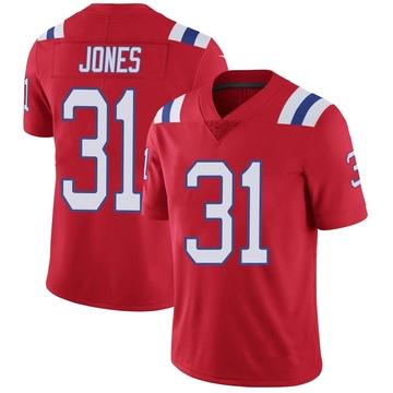 Youth Nike New England Patriots Jonathan Jones Red Vapor Untouchable Alternate Jersey - Limited