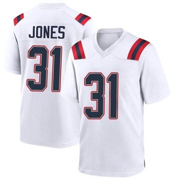 Youth Nike New England Patriots Jonathan Jones White Jersey - Game