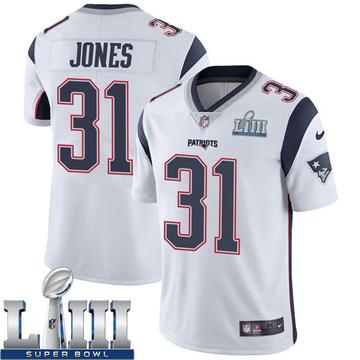 Youth Nike New England Patriots Jonathan Jones White Super Bowl LIII Vapor Untouchable Jersey - Limited