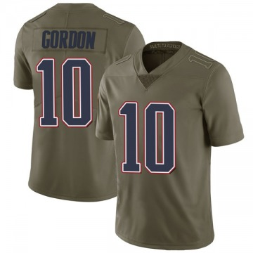 Youth Nike New England Patriots Josh Gordon Green 2017 Salute to Service Jersey - Limited