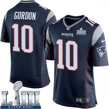 Youth Nike New England Patriots Josh Gordon Navy Blue Team Color Super Bowl LIII Jersey - Game