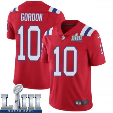 Youth Nike New England Patriots Josh Gordon Red Super Bowl LIII Vapor Untouchable Alternate Jersey - Limited
