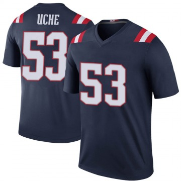 Youth Nike New England Patriots Josh Uche Navy Color Rush Jersey - Legend