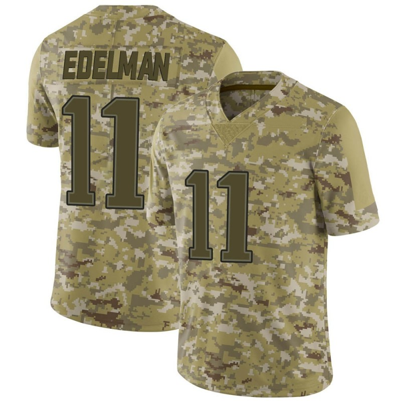 Youth New England Patriots Julian Edelman Camo 2018 Salute to Service Jersey - Limited