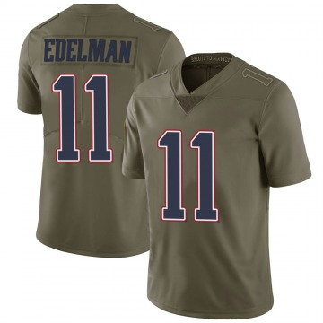 Youth Nike New England Patriots Julian Edelman Green 2017 Salute to Service Jersey - Limited
