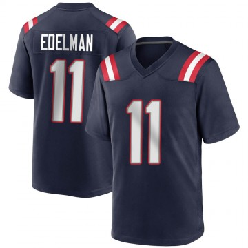 Youth Nike New England Patriots Julian Edelman Navy Blue Team Color Jersey - Game