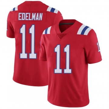 Youth Nike New England Patriots Julian Edelman Red Vapor Untouchable Alternate Jersey - Limited