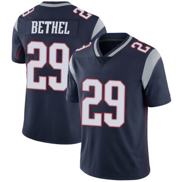 Youth Nike New England Patriots Justin Bethel Navy 100th Vapor Jersey - Limited