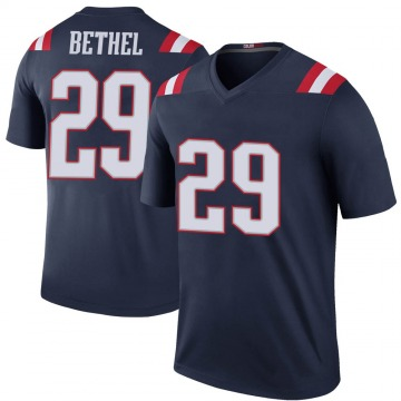Youth Nike New England Patriots Justin Bethel Navy Color Rush Jersey - Legend