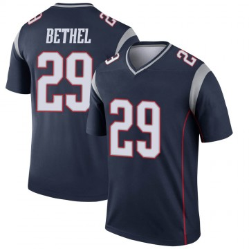 Youth Nike New England Patriots Justin Bethel Navy Jersey - Legend