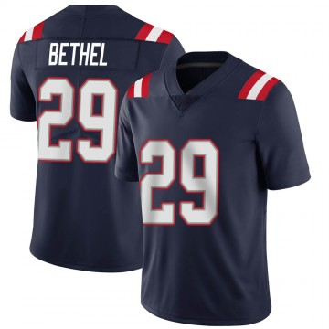 Youth Nike New England Patriots Justin Bethel Navy Team Color Vapor Untouchable Jersey - Limited