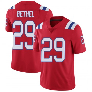 Youth Nike New England Patriots Justin Bethel Red Vapor Untouchable Alternate Jersey - Limited