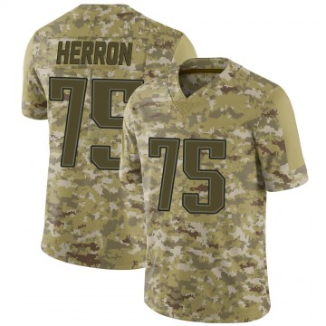 Youth Nike New England Patriots Justin Herron Camo 2018 Salute to Service Jersey - Limited