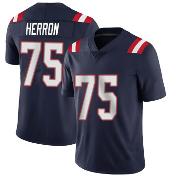 Youth Nike New England Patriots Justin Herron Navy Team Color Vapor Untouchable Jersey - Limited