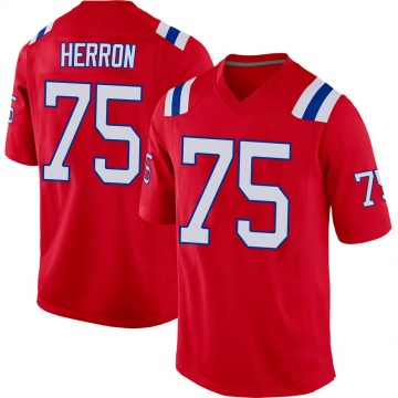 Youth Nike New England Patriots Justin Herron Red Alternate Jersey - Game