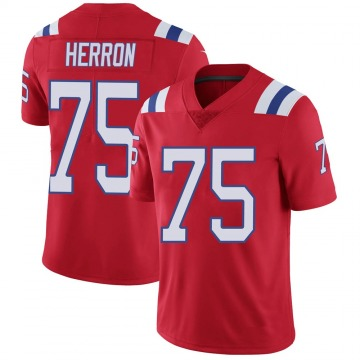 Youth Nike New England Patriots Justin Herron Red Vapor Untouchable Alternate Jersey - Limited