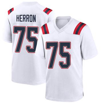 Youth Nike New England Patriots Justin Herron White Jersey - Game