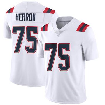 Youth Nike New England Patriots Justin Herron White Vapor Untouchable Jersey - Limited
