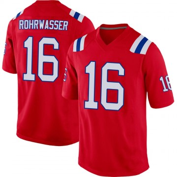 Youth Nike New England Patriots Justin Rohrwasser Red Alternate Jersey - Game