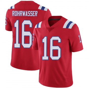 Youth Nike New England Patriots Justin Rohrwasser Red Vapor Untouchable Alternate Jersey - Limited