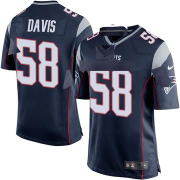 Youth Nike New England Patriots Keionta Davis Navy Blue Team Color Jersey - Game