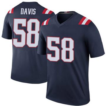 Youth Nike New England Patriots Keionta Davis Navy Color Rush Jersey - Legend