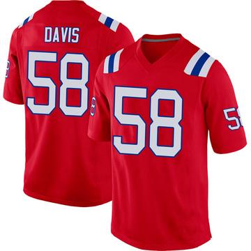Youth Nike New England Patriots Keionta Davis Red Alternate Jersey - Game