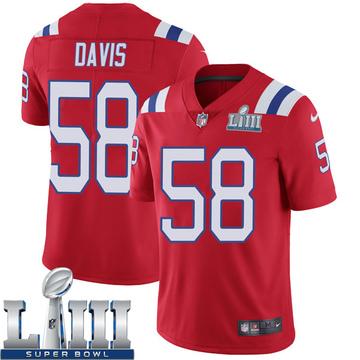 Youth Nike New England Patriots Keionta Davis Red Super Bowl LIII Vapor Untouchable Alternate Jersey - Limited