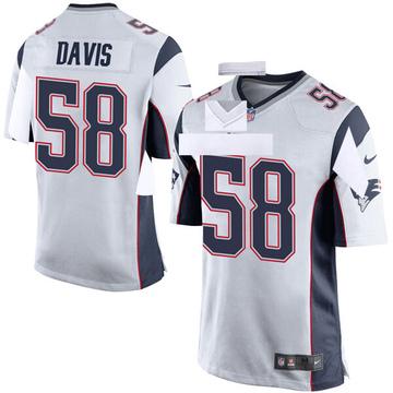 Youth Nike New England Patriots Keionta Davis White Jersey - Game