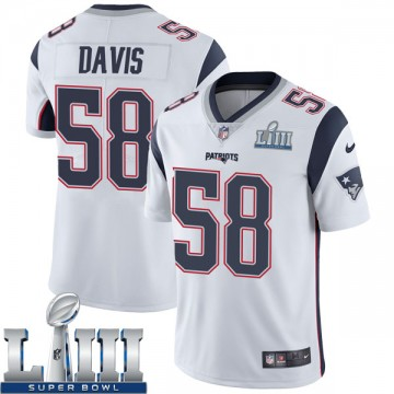Youth Nike New England Patriots Keionta Davis White Super Bowl LIII Vapor Untouchable Jersey - Limited
