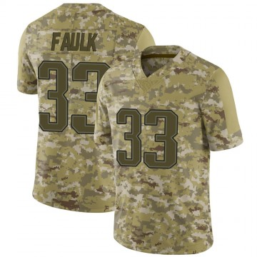 Youth Nike New England Patriots Kevin Faulk Camo 2018 Salute to Service Jersey - Limited