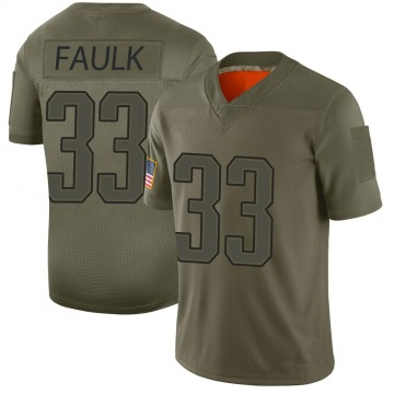 Youth Nike New England Patriots Kevin Faulk Camo 2019 Salute to Service Jersey - Limited
