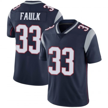 Youth Nike New England Patriots Kevin Faulk Navy 100th Vapor Jersey - Limited