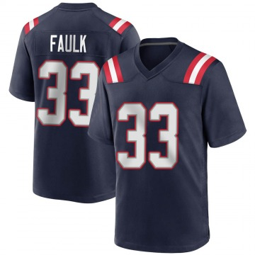 Youth Nike New England Patriots Kevin Faulk Navy Blue Team Color Jersey - Game