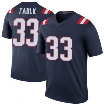 Youth Nike New England Patriots Kevin Faulk Navy Color Rush Jersey - Legend