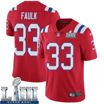 Youth Nike New England Patriots Kevin Faulk Red Super Bowl LIII Vapor Untouchable Alternate Jersey - Limited