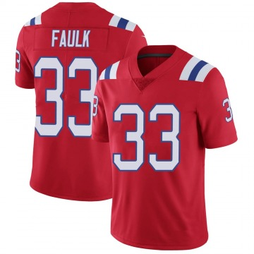 Youth Nike New England Patriots Kevin Faulk Red Vapor Untouchable Alternate Jersey - Limited