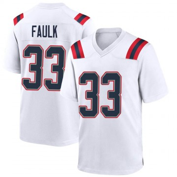 Youth Nike New England Patriots Kevin Faulk White Jersey - Game